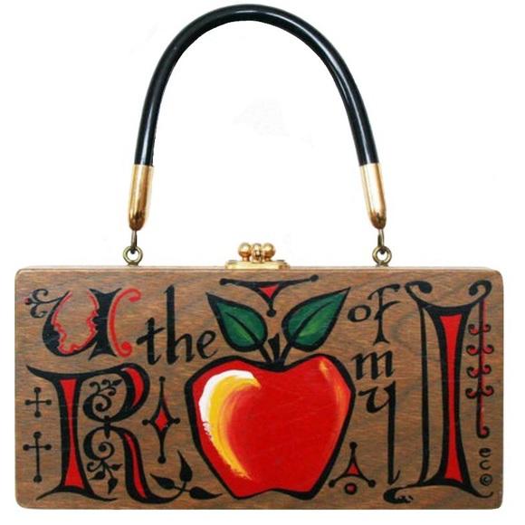 Enid Collins Handbags - Vintage Enid Collins mid century Wood Box Purse